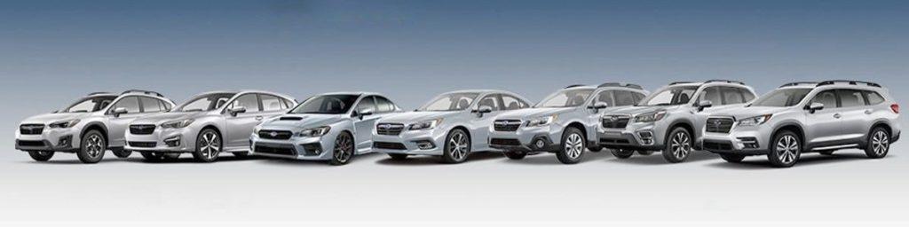 subaru certified body shop car lineup
